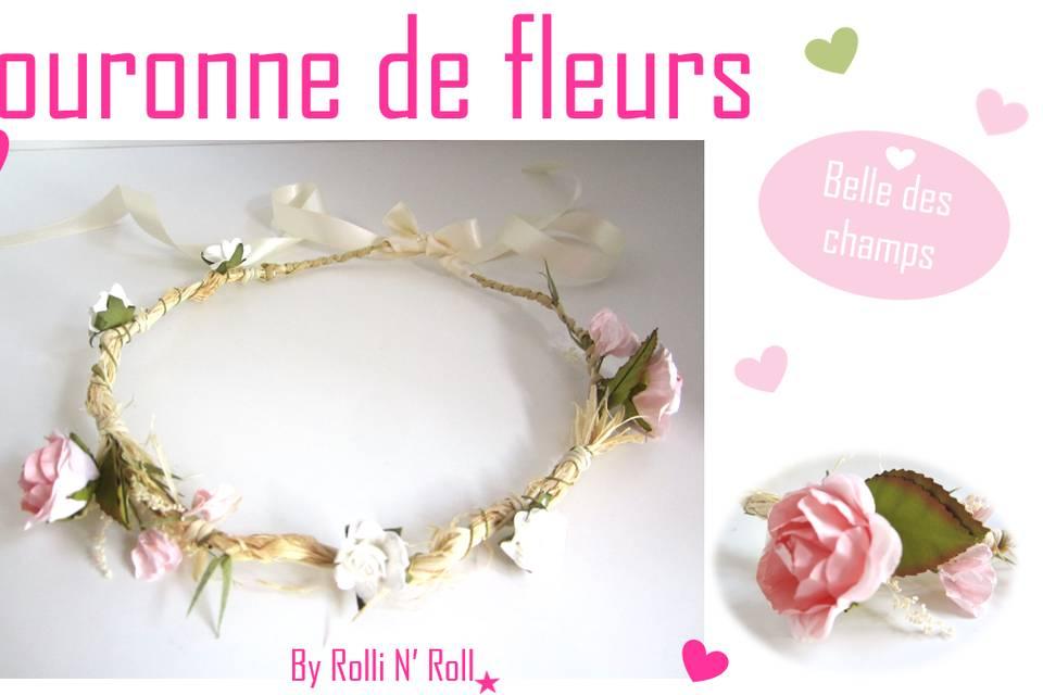 Headband couronne de fleurs