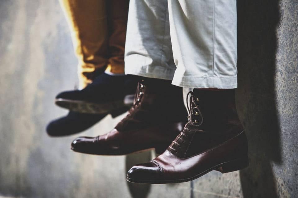 Chaussures du marié et témoin