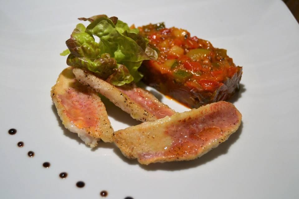 Filets de rouget grillé