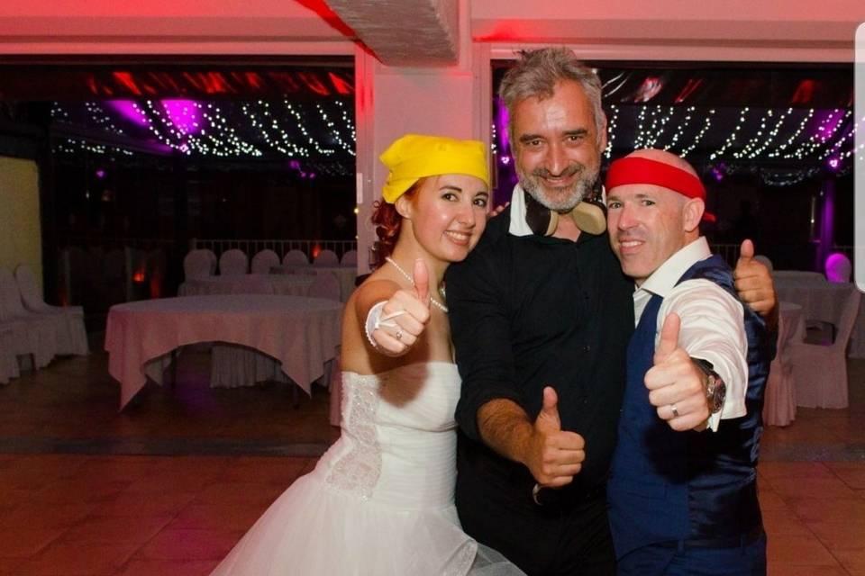 Des mariés ravis