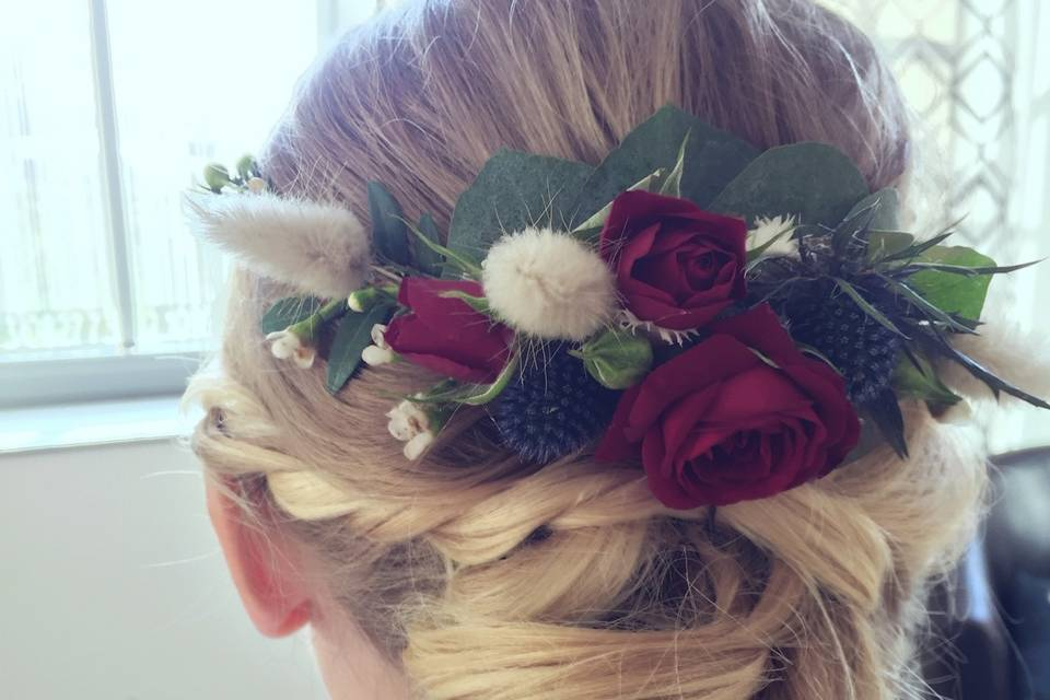 Burgandy Hairstyle
