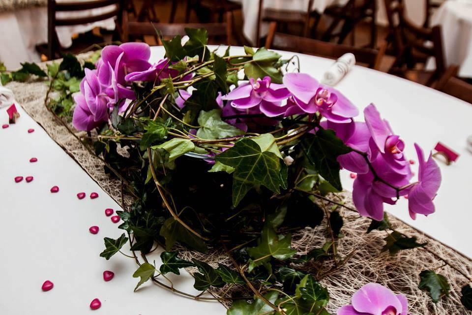 Vert tige à fleur de pot