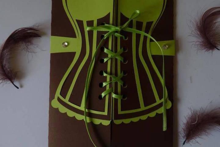 Faire part corset
