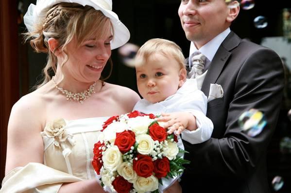 Photographie de la mariée et le marié