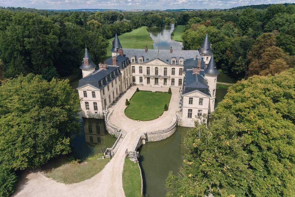 Château vu de drone