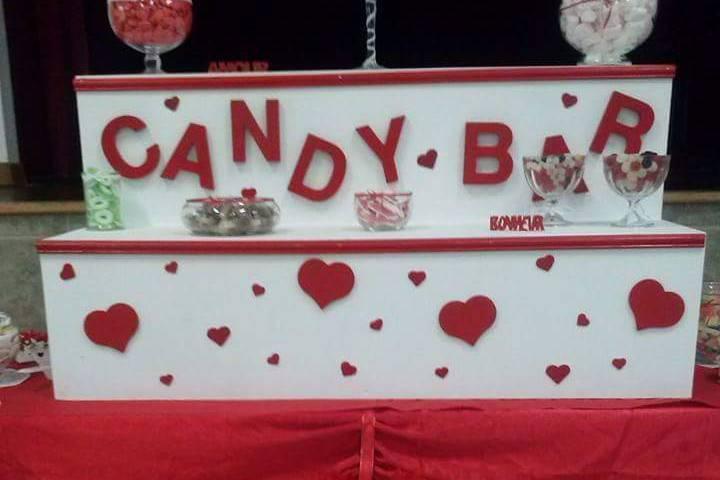 Candy bar rouge thème