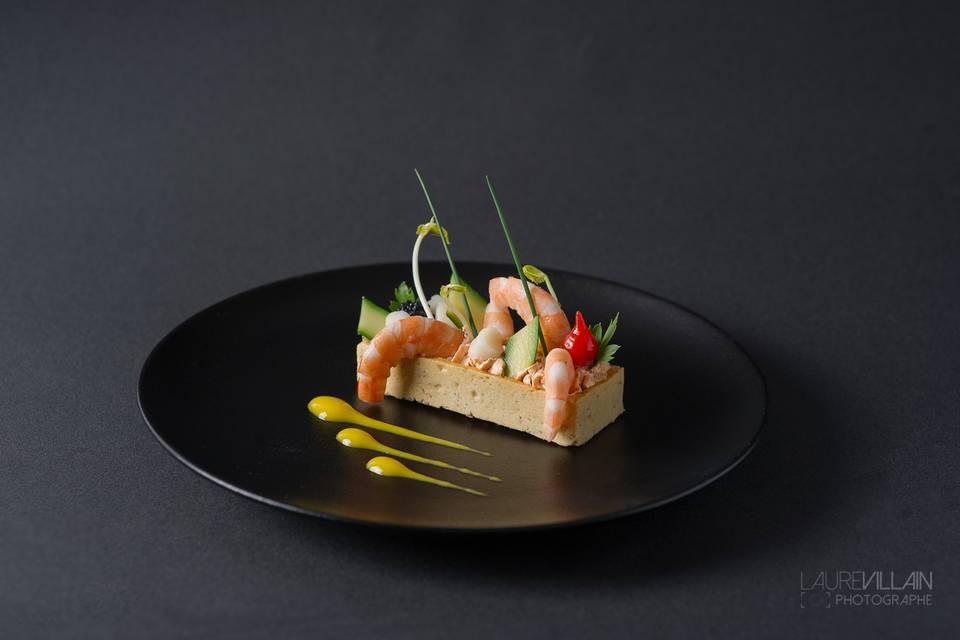 Tarte de crustacés