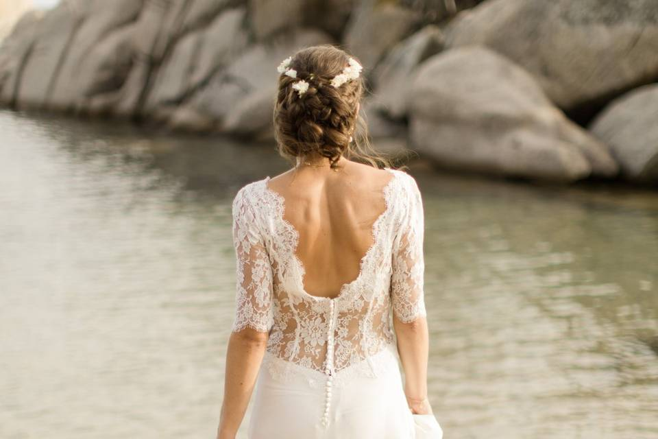 Robe de mariée dentelle Calais