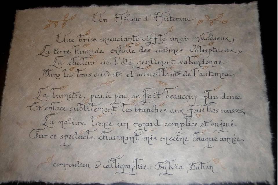 Calligraphie Sylvia D.