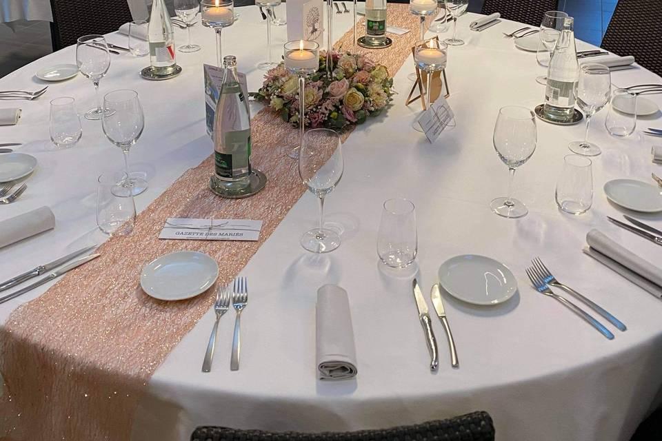 Tables des mariés